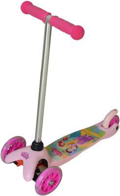 Купить Самокат 1TOY Disney Принцессы 5 /4 розовый Т58416, Трехколесные самокаты для детей