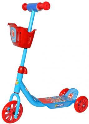 Самокат 1TOY Фиксики Т59571 6/5 красно-голубой самокат детский трехколесный 1 toy фиксики со светящимися колесами цвет голубой т58463