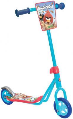 Купить Самокат 1TOY Angry Birds 4 голубой, Двухколесные самокаты для детей
