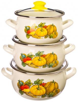 Набор посуды Interos 15204 Тыква кастрюля interos 15204 тыква 16 см 2 1 л эмалированная сталь