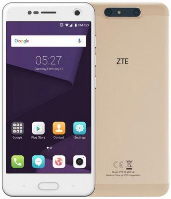 Смартфон ZTE Blade V8 золотистый 5.2 32 Гб LTE Wi-Fi GPS 3G BLADEV8GOLD смартфон zte blade a6 черный 5 2 32 гб lte wi fi gps 3g blade a6 gold