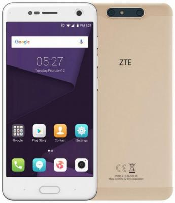 Фото Смартфон ZTE Blade V8 32 Гб золотистый (BLADEV8GOLD) смартфон
