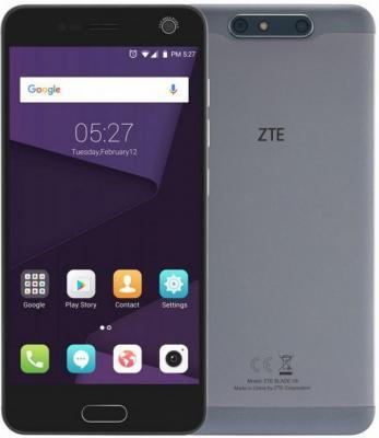 Смартфон ZTE Blade V8 серый 5.2 32 Гб LTE Wi-Fi GPS 3G BLADEV8GRAY смартфон zte blade 601 черный 5 8 гб lte wi fi gps 3g bladea601black