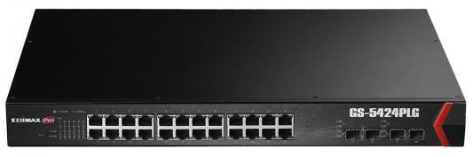 Коммутатор Edimax GS-5424PLG управляемый 24 порта 10/100/1000Mbps 95 725 108 360 rf cable assemblies smp str plg smp str plg mr li