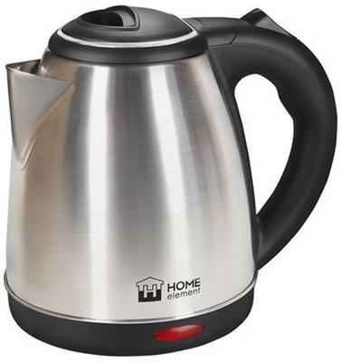 Чайник HOME ELEMENT HE-KT165 1800 Вт серебристый чёрный 1.7 л нержавеющая сталь