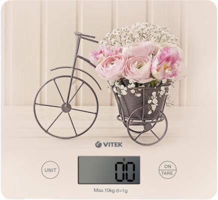 Весы кухонные Vitek VT-8016 CA рисунок бежевый