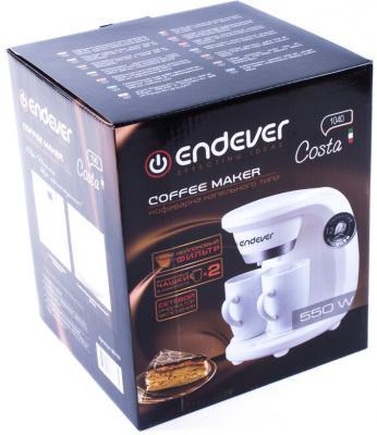 Кофеварка ENDEVER 1040-Costa белый кофеварка endever 1040 costa 550 вт белый