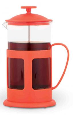 Френч-пресс Teco 1060P-TC-R красный 0.6 л пластик/стекло