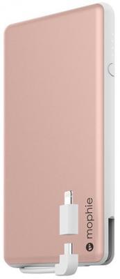 Портативное зарядное устройство Mophie PowerStation Plus 6000мАч розовое золото 3545