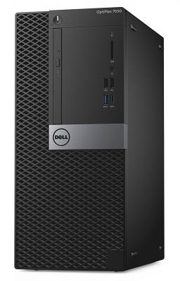 Системный блок DELL Optiplex 7050 MT i7-7700 3.6GHz 8Gb 256Gb SSD R7 450-4Gb DVD-RW Win10Pro клавиатура мышь серебристо-черный 7050-8329 системный блок dell optiplex 5040 mt i7 6700 3 4ghz 8gb 500gb hd 530 dvd rw win7pro клавиатура мышь черный 5040 9976
