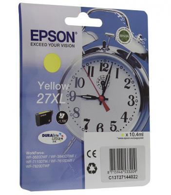 Картридж Epson C13T27144022 для Epson WF7110/7610/7620 желтый 1100стр