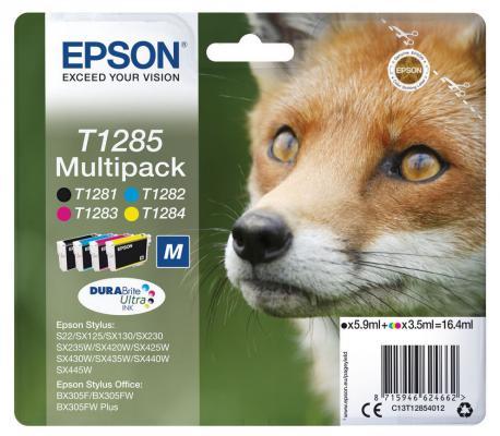 Картридж Epson C13T12854012 для Epson St S22/SX125/SX420W/Of BX305F цветной картридж colouring cg 1282 cyan для epson s22 sx125 sx130 sx420w sx425w office bx305f bx305fw