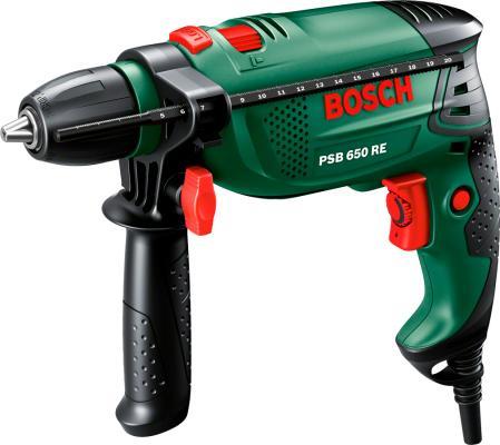 Ударная дрель Bosch PSB 650 RE 650Вт от 123.ru