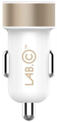 Автомобильное зарядное устройство LAB.C LABC-582-GL_N 2 х USB 1/2.4 А золотой