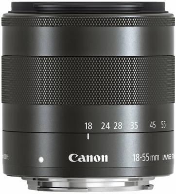 Объектив Canon EF-M STM 18-55мм f/3.5-5.6 черный 5984B005
