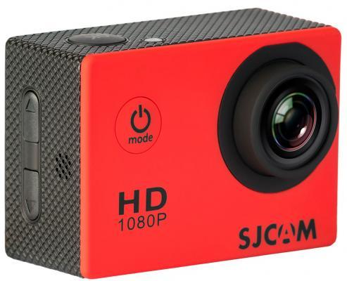 Экшн-камера SJCAM SJ4000 красный аквабокс sjcam для sj4000 черный