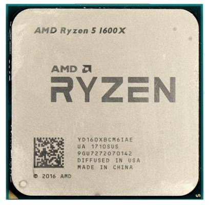 Процессор AMD Ryzen 5 1600X YD160XBCM6IAE Socket AM4 OEM процессор amd ryzen 5 1400 oem 65w 4c 8t 3 4gh max 10mb l2 2mb l3 8mb am4 yd1400bbm4kae