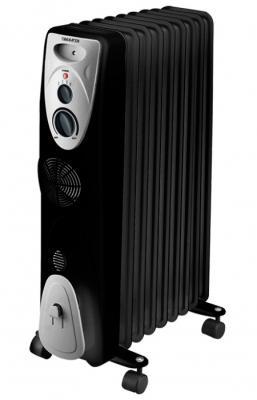 Масляный радиатор Marta MT-2420 2000 Вт чёрный масляный радиатор marta mt 2422