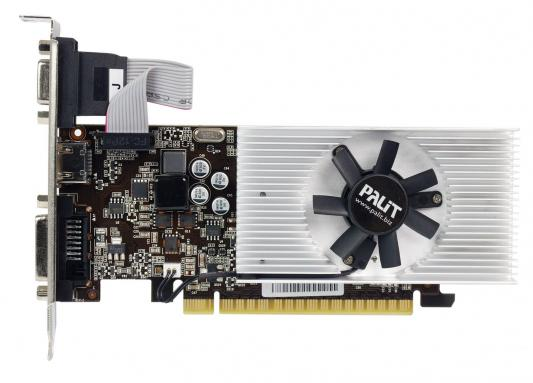 Видеокарта 2048Mb Palit GeForce GT730 PCI-E DVI HDMI HDCP PA-GT730K-2GD5H NE5T7300HD46-2081F Retail