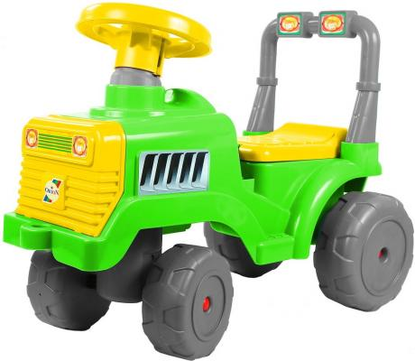 Каталка-трактор R-Toys ОР931к зелено-желтый от 10 месяцев пластик