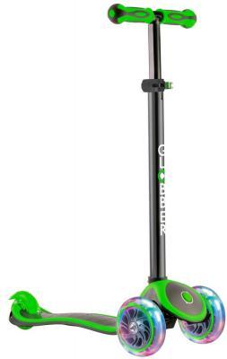 Самокат трехколёсный Y-SCOO GLOBBER PRIMO PLUS TITANIUM с 3 светящимися колесами Neon Green 442-136