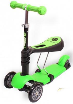 Самокат-каталка трехколёсный  GLIDER SEAT green