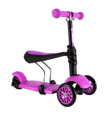 """Самокат-каталка Y-Bike GLIDER SEAT pink 12""""/8"""" розовый"""