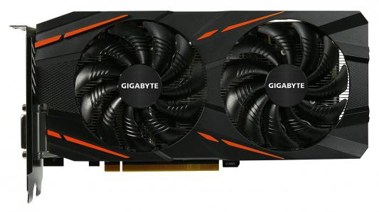 Видеокарта 4096Mb Gigabyte RX 570 GAMING 4G PCI-E HDMI DPx3 DVI-D GV-RX570GAMING-4GD Retail видеокарта asus 4096mb rx 560 strix rx560 o4g evo gaming dvi dp hdmi ret