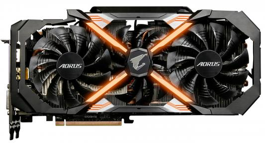 Видеокарта 11264Mb Gigabyte GeForce GTX1080Ti AORUS Xtreme Edition PCI-E HDMIx2 DPx3 DVI-D GV-N108TAORUS X-11GD Retail видеокарта gigabyte geforce gt710 2gb gddr5