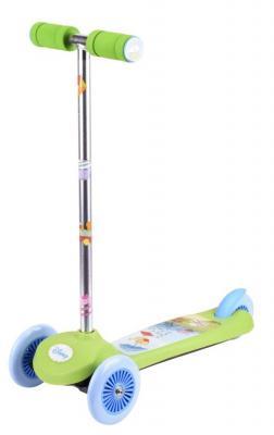 Самокат 1TOY Disney Винни-Пух 12*/10* зеленый детский четырёхколёсный самокат зеленый