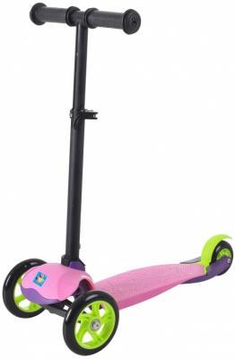 Самокат 1TOY Т59691 4*/3* розовый самокат трехколесный 1 toy т57644 peppa