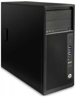 Системный блок HP Z240 i7-7700 3.6GHz 4Gb 256Gb SSD HD630 DVD-RW Win10Pro черный Y3Y80EA