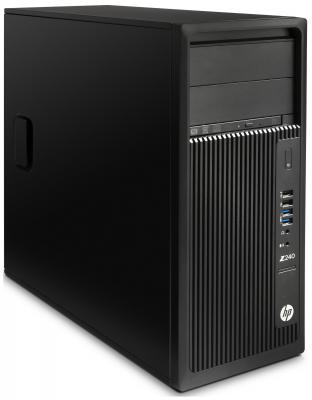 Системный блок HP Z240 i5-7600 3.5GHz 4Gb 1Tb HD630 DVD-RW Win10Pro черный Y3Y77EA компьютер hp prodesk 400 g4 intel core i5 7500 ddr4 8гб 1000гб intel hd graphics 630 dvd rw windows 10 professional черный [1jj50ea]