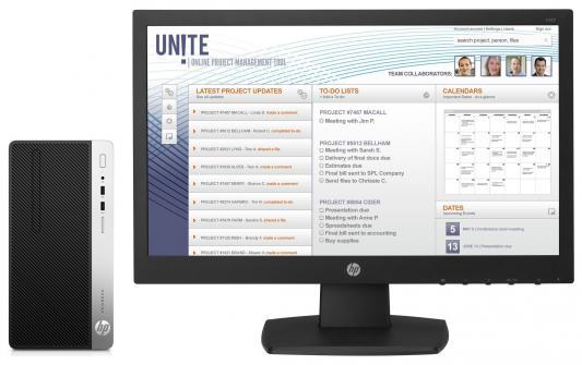 Системный блок HP ProDesk 400 i5-7500 3.4GHz 8Gb 256Gb SSD DVD-RW Win10Pro серебристо-черный 1JJ56EA