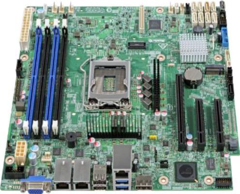 Мат. плата для ПК Intel DBS1200SPOR Socket 1151 C236 4xDDR4 1xPCI-E 8x 8xSATAIII mATX 951871