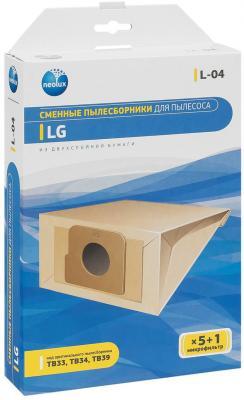 Пылесборник NeoLux L-04 для LG 5шт  neolux l 04 бумажный пылесборник 5 шт микрофильтр