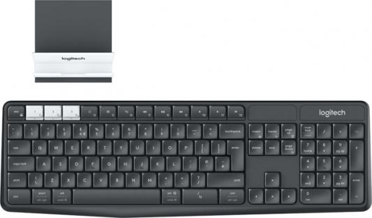Клавиатура беспроводная Logitech K375s Multi-Device (920-008184) USB + Bluetooth черный белый 920 008868 клавиатура logitech rgb mechanical gaming keyboard g513 tactile switch