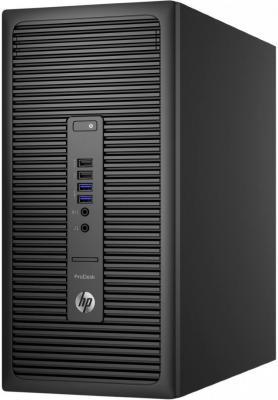 Системный блок HP ProDesk 600 i3-6100 3.7GHz 4Gb 500Gb HD530 DVD-RW Win10Pro клавиатура мышь черный X6T50EA