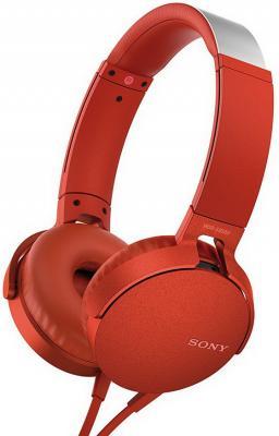Наушники SONY MDRXB550APR.E красный
