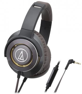 Наушники Audio-Technica ATH-WS770iS GM черный коричневый наушники audio technica ath ava400 black
