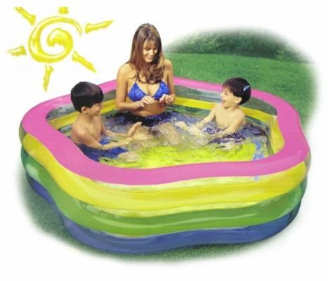 Надувной бассейн Intex Звезда радуга бассейн intex 58480