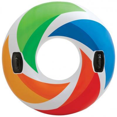 Надувной круг INTEX Цветной вихрь 58202