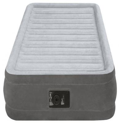 Надувной матрас INTEX Комфорт-плюш надувная мебель intex надувной матрас кров райзинг комфорт 152х203х56см эл насос 220в на провод дист управ