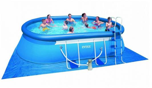 Каркасный бассейн INTEX с54432 intex oval frame pool 549х305х107см фильтр насос аксессуары арт 28192 54932
