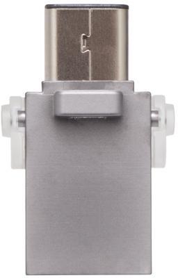 Флешка USB 128Gb Kingston DTDUO3C/128GB серый samsung высокоскоростной usb 3 1 type c флешка 128gb чёрный