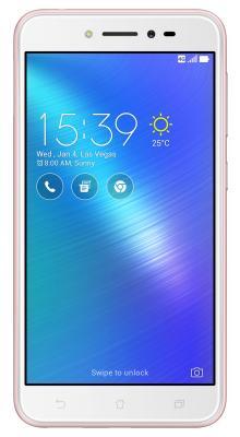 Смартфон ASUS ZenFone Live ZB501KL розовый 5 32 Гб Wi-Fi GPS LTE 3G 90АК0073-М00150 смартфон asus zenfone zf3 laser zc551kl золотистый 5 5 32 гб wi fi lte gps 3g 90az01b2 m00050