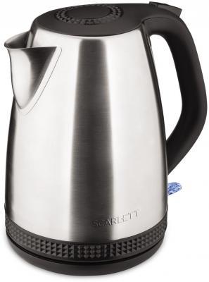 Чайник Scarlett SC-EK21S46 2200 Вт серебристый чёрный 1.7 л нержавеющая сталь чайник kitchenaid kten20sbob чёрный 1 9 л нержавеющая сталь