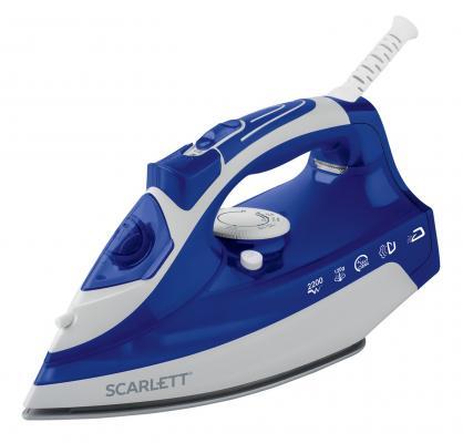 Утюг Scarlett SC-SI30K22 2200Вт синий белый утюги scarlett утюг scarlett sc si30s04 2200вт белый зеленый