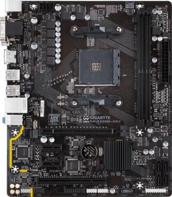 Мат. плата для ПК GigaByte GA-A320M-HD2 Socket AM4 AMD A320 2xDDR4 1xPCI-E 16x 1xPCI 2xPCI-E 1x 4xSATAIII mATX Retail материнская плата gigabyte ga h81m s1 v2 2 socket 1150 h81 2xddr3 1xpci e 16x 2xpci e 1x 2xsata ii 2xsataiii matx retail