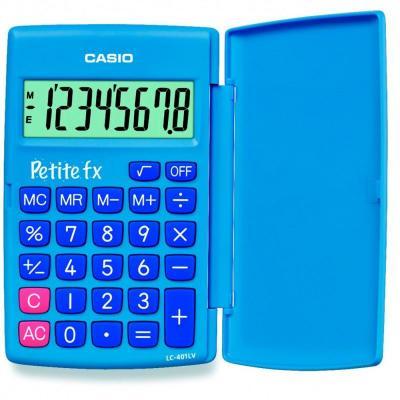 Калькулятор карманный CASIO LC-401LV-BU 8-разрядный голубой